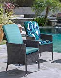Commonwealth Home Fashions Tropical high Back Patio Chair Pads, one Size, Multi