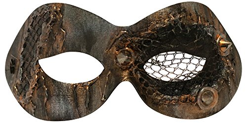 Success Creations Scorched Masquerade Mask for Women Bronze Metalic -