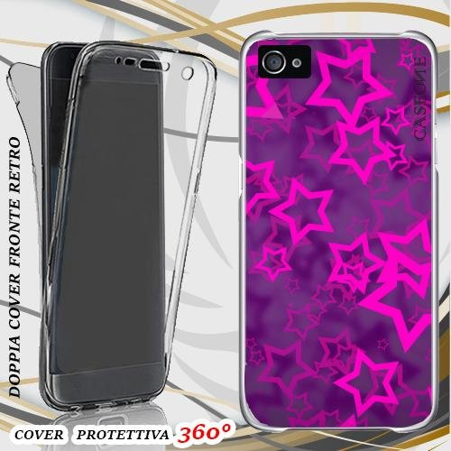 CUSTODIA COVER CASE STELLE 3D PER IPHONE 5 FRONT BACK