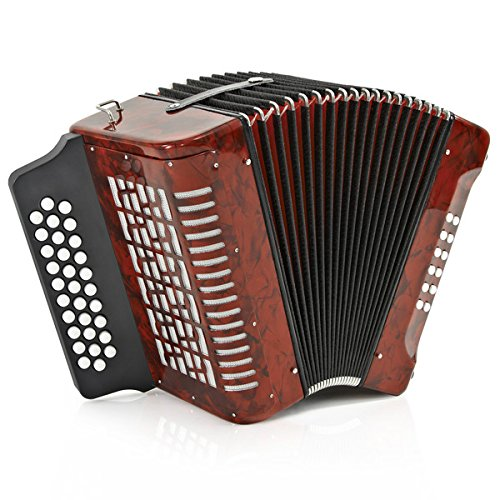 Diatonic Button Accordion by Gear4music 12 Bass