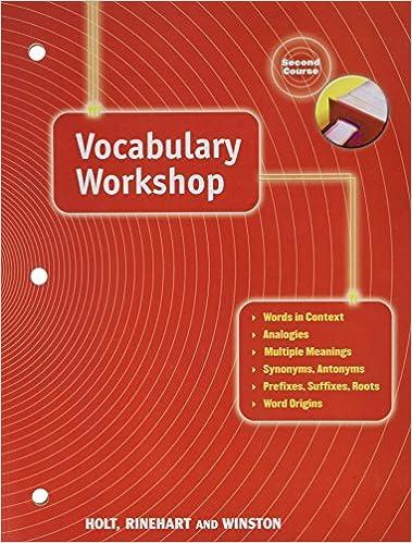 Vocabulary Workshop Second Course Grade 8