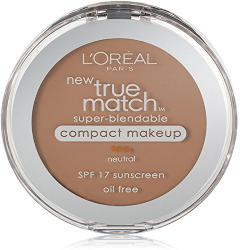 L'Oreal True Match Super-Blendable Compact Makeup, Honey Beige [N6], 0.30 oz (Pack of 2)
