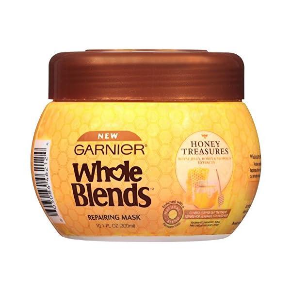 Garnier Whole Blends Honey Treasures Repair Hair Mask. For Damaged, Brittle Hair, Paraben-Free, 300 ml 1