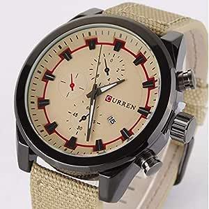 ساعة يد كاجوال بعرض انالوج وسوار من الجلد للرجال من كورين - 8196