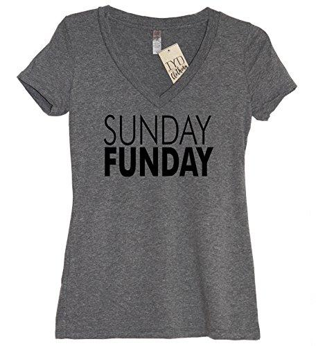 Sunday Funday Shirt Womens Soft Tri-Blend V Neck