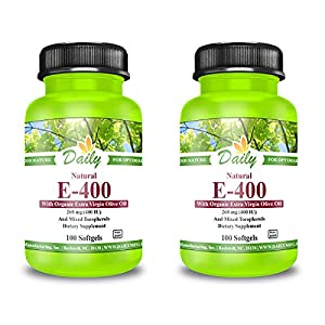 Daily Manufacturing Vitamin E-400 Natural Mixed Tocopherols 100 Softgels (2)