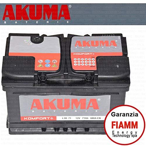 Batteria Auto Akuma = Fiamm 71 Ah 12V 680A En Originale Nuova