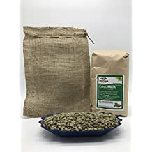 5lbs COLOMBIA SUNDRIED (includes a FREE BURLAP BAG) Specialty-Grade, CURRENT-CROP Green Unroasted Coffee Beans – HUILA is Known for Producing Best Coffees in Colombia Grown Under Canopy of Rainforest