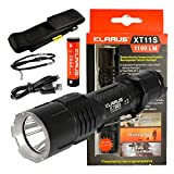 Klarus XT11-S 1100 Lumens USB Rechargeable Tactical Flashlight with CREE XP-L HI V3 LED For Sale