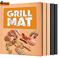 Wodahan BBQ Grill mat, Copper Grill mats,Non-Stick Grill mat,Suitable for Charcoal, Electrical and Gas Grilling …