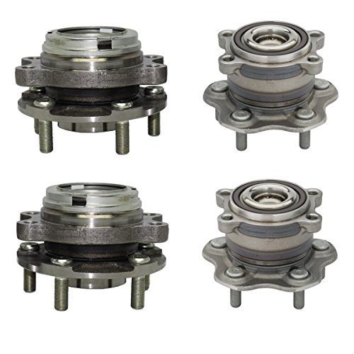 - Detroit Axle - Front Wheel Bearing and Rear Hub Assembly Set for 2009-2016 Maxima - [13-15 Pathfinder FWD] - 13 JX35 - [14-16 QX60] - 2007-2012 Nissan Altima 3.5L - 2013 Altima 3.5L Coupe