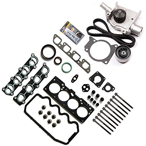 Mercury Ford Tracer (ECCPP Timing Belt Water Pump Kit Head Gasket Sets,Automotive Replacement Parts Fits 1997-1999 2.0L Mercury Tracer Ford Escort 8v VIN P)