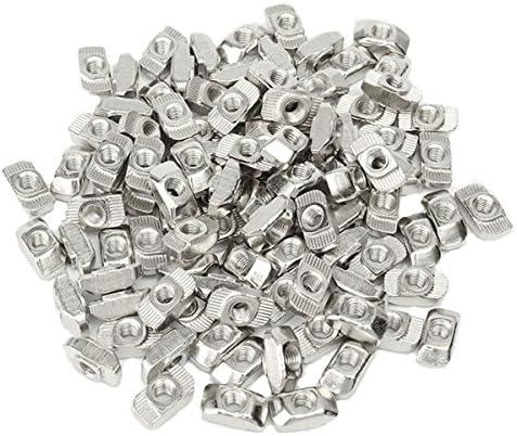 Queenwind 50pcs のための M5 T 滑走のナットブロック3030アルミニウムプロフィールの亜鉛上塗を施してある版アルミニウム付属品