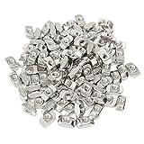50pcs M5 T Sliding Nut Block for 3030 Aluminum Profile Zinc Coated Plate Aluminum Accessories