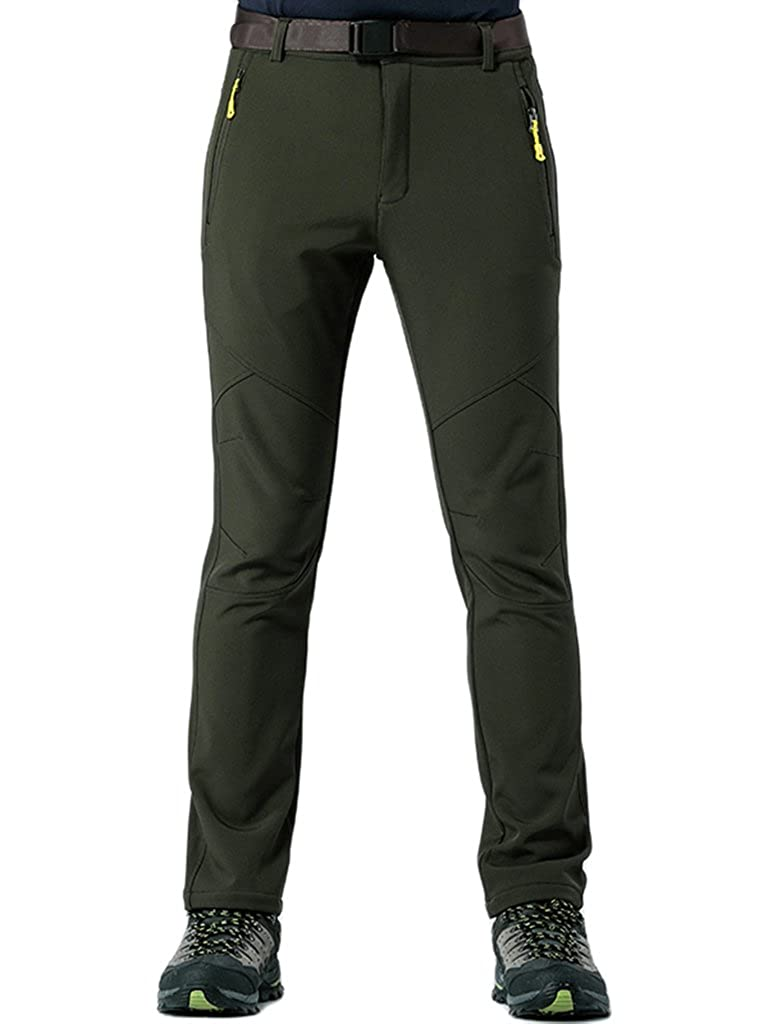 KING Shield Men's Windproof Climbing Hiking Pants Soft Shell Pant