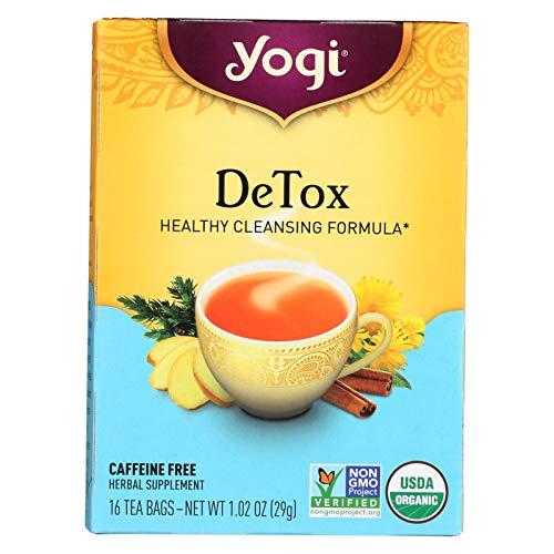 - Yogi Tea Detox - Caffeine Free - 16 Tea Bags - 70%+ Organic -