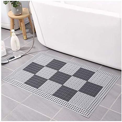 GHHQQZ バスルームのカーペット 厚さ1 cm ノンスリップ 丈夫 スプライス PVC 洗面所 キッチン フットパッド バスルームラグ、 3色、 複数のサイズ (Color : B, Size : 57x72cm 12-Tiles)