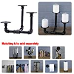 Pipe Décor Industrial 3 Branch Pillar Candle Holder Complete Set Electroplated Black Finish - 38CNPL4-BK- Rustic and… 8