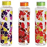 Cello Contempo Water Bottle 1Liter (Pack of 3) (Yellow Orange & green)