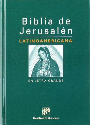 Biblia de jerusalén latinoamericana en letra grande por Escuela Bíblica De Jerusalén