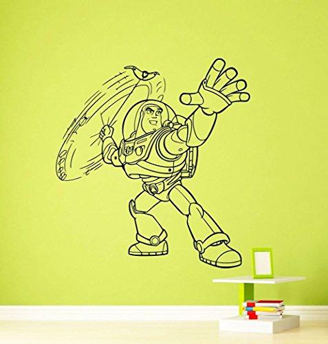 Andre Shop Buzz Lightyear Toy Story Wall Decal Disney Cartoons Sheriff Woody Buzz Lightyear Jessie Slinky Dog Vinyl SX6Si