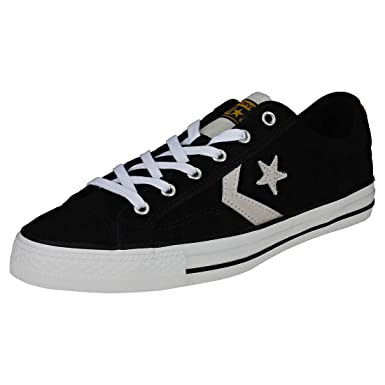 eb84029ef98c16 Converse Star Player Ox Mens Classic Trainers in Black White - 10 UK