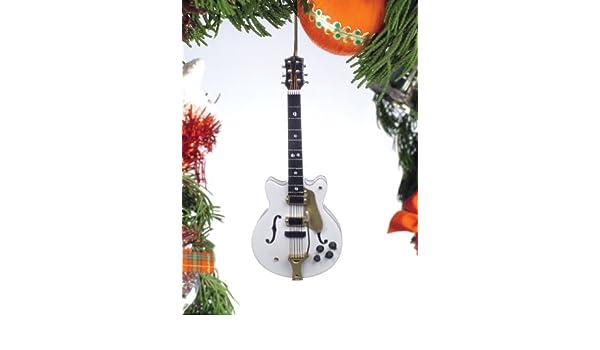 Música Treasures Co. Blanco Falcon guitarra eléctrica adorno de ...