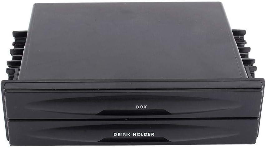 Fydun Car Storage Box Universal Car auto Double Din Radio Pocket Drink Cup Holder with Storage Box