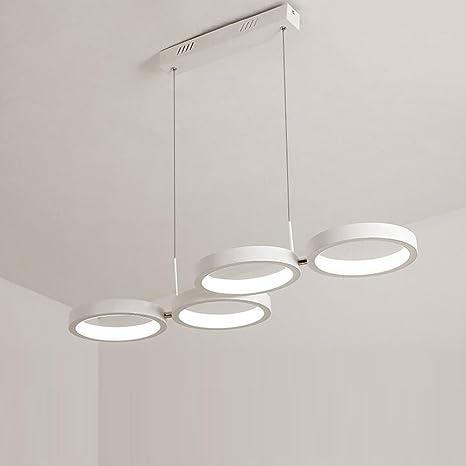 Lámpara colgante LED comedor lámpara Péndulo 4 anillas ...