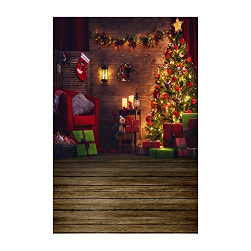(Pausseo 2019 Merry Christmas 3D Studio Background Cloth Snowflake Snowman Xmas Tree Balls Photo Shooting Vinyl Fireplace Household Home Decor Backdrops Glass Wallpaper Scenes - 90x150cm)