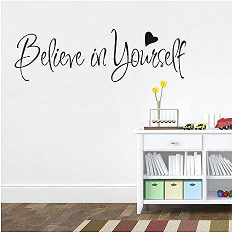 Frasi Adesive Da Parete.Adesivi Murali Frasi Scritte Believe In Yourself Adesivi Da Parete Amovibile Decorazione Per Muri 57 20cm