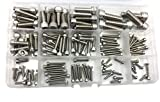 HVAZI 135pcs Metric M2.5 M3 M4 M5 M6 M8 304 Stainless Steel Hex Socket Head Cap Screws Assortment Kit