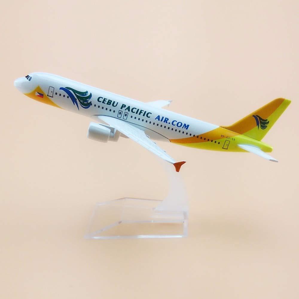 Ochoos 16cm 合金 金属 フィリピン Cebu Pacific Air Air Air bus 320 A320 飛行機モデル 航空機モデル スタンド付き ギフト B07NSB4NQC