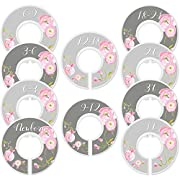 Mumsy Goose Nursery Closet Dividers Baby Girl Clothes Dividers Closet Organizers