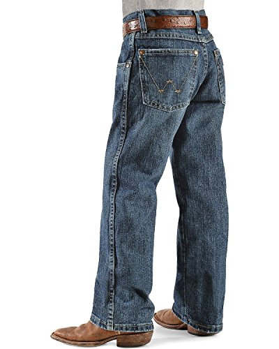 Wrangler Big Boys' Retro Straight Leg Big Boys' Jeans, Everyday Blue, 10 Regular -