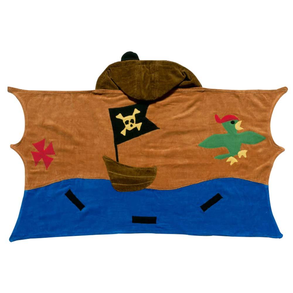 Kidorable Pirate Toddler Towel, Brown, Medium, 3-6 Years by Kidorable