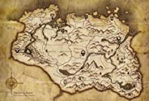 The Elder Scrolls V Skyrim Parchment Map: Video Games - Amazon.com on