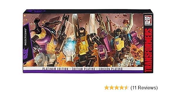 Hasbro Transformers Platinum Edition Insecticons Bombshell Kickback Skrapnel set