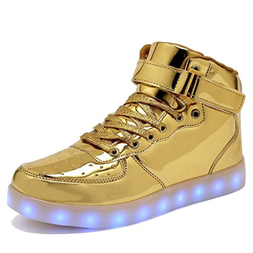 9f3d6ffce9f LES TRICOT High Top Led Light Up Shoes 11 Colors Flashing Rechargeable  Sneakers for Mens Womens