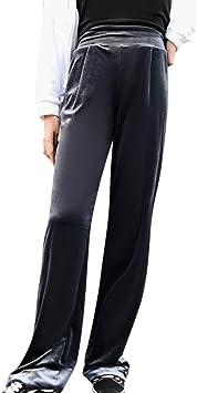 Pantalones Rectos Largo Para Mujer Invierno Otono Tallas Grandes Paolian Pantalon De Vestir Yoga Terciopelo Cintura Elastica Alta Negro Holgado Elegante Para Senora Amazon Es Ropa Y Accesorios