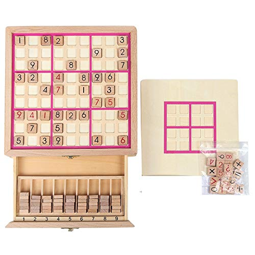 Hong Jie Yuan Toys - Intellectual Development Parent-Child Toys Three-in-one Sudoku Game Chess 4/6/9 Jiugongge Memory Chess - 3 Year Old Boys and Girls Toys (Color : C)