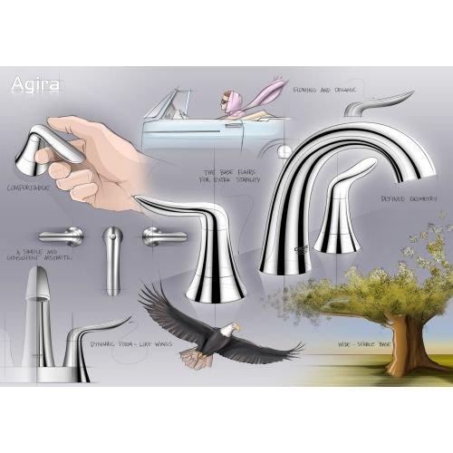 "good Grohe 40 679 Agira 24"" Towel Bar, Brushed Nickel"