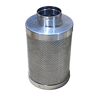 "Maximum Horticulture Premium 4"" Activated Carbon Filter with Virgin Australian Carbon for Purifing Air using inline Ducting Fans"