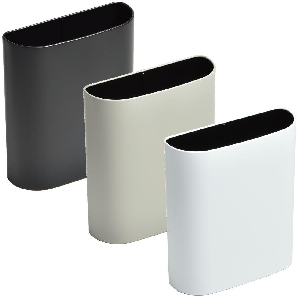 ぶんぶく マグネットバケット 全9色の中から選べる3個セット ゴミ箱 ごみ箱 ダストボックス おしゃれ 日本製 (ブラック×グレー×マットホワイト) B075K3QPJB ブラック×グレー×マットホワイト ブラック×グレー×マットホワイト