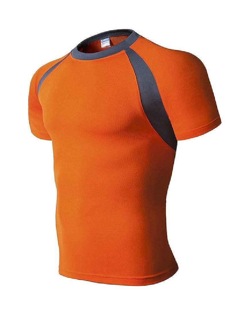 Zantt Men Running Fast Dry Fitness Short Sleeve T-Shirt Tee