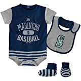 Seattle Mariners Infant Size 0-3 Months CREEPER BIB & BOOTIE SET