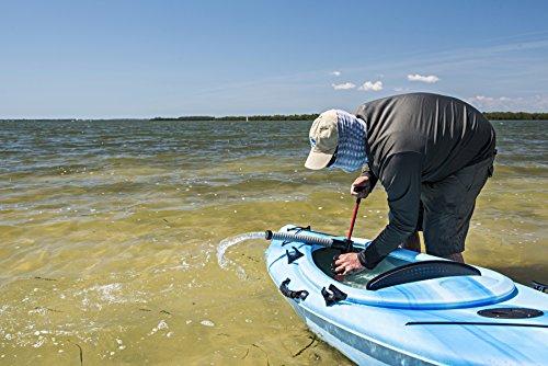 Shoreline Marine Propel Kayak Pump with Floating Collar & Storage Bag, 12