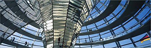 Glass Dome, Reichstag, Berlin, Germany by Panoramic Images Laminated Art Print, 27 x 9 - Reichstag Berlin Dome