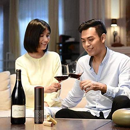 Abrebotellas de vino Set Camareros Amigo Sacacorchos Profesional Abrebotellas Sommelier Abrebotellas de vino eléctrico Acero Inoxidable Recargable Plata
