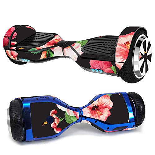 MightySkins Skin for Hover-1 Ultra Hoverboard Scooter - Hibiscus | Protective, Durable, and Unique Vinyl Decal wrap Cover | Easy to Apply, Remove, and Change Styles | Made in The USA